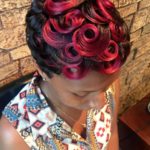 Yass red pin curls @artistry4gg