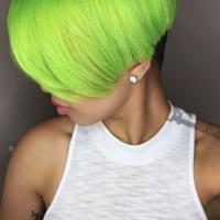Edgy green @_jalyssamonet.mua