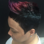 Edgy cut and color via @contactevie