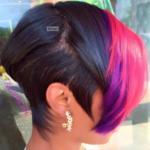 Edgy pop of color by @razorchicofatlanta