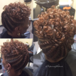 Nice flat twist updo via @returning2natural