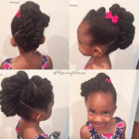 Adorable kiddie updo @returning2natural