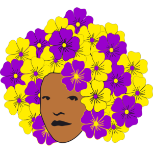 Flowery Summery Afro T-Shirts