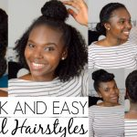 7 QUICK AND EASY Hairstyles For Natural Hair [Video]