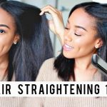 8 Tips for Straighter Hair | Flat Ironing Tips + Technique [Video]