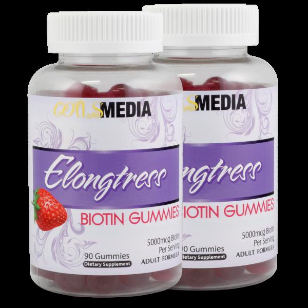 Elongtress Biotin Gummies - 5000mcg - 2 Bottles