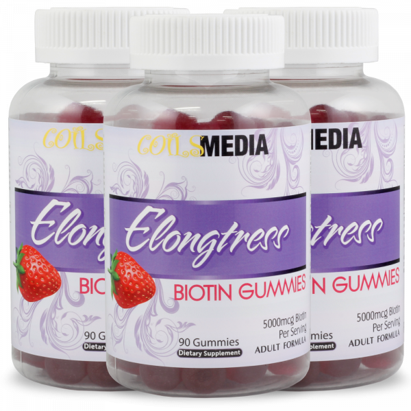 Elongtress Biotin Gummies - 5000mcg - 3 Bottles