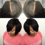 Nice invisible part quick weave via @hairbylatise