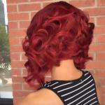 Love this red bob via @hairbychantellen