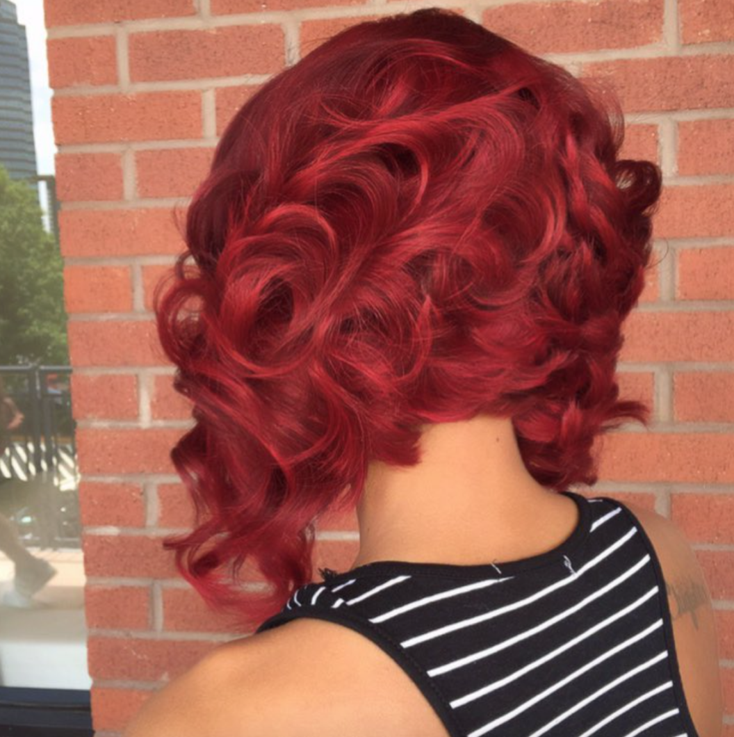 Love This Red Bob Via Hairbychantellen Black Hair