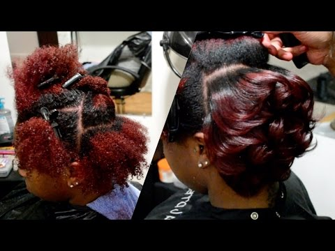 Amber Red Body Curls On Natural Hair Video Black