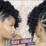 BAD AZZ BUN-HAWK UPDO ➟ Natural Hair Tutorial [Video]
