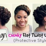 Beautiful and Protective Flat Twist Updo [Video]