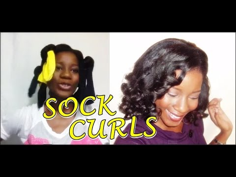 Bouncy Curls On Relaxed Hair Sock Method Video Black Hair