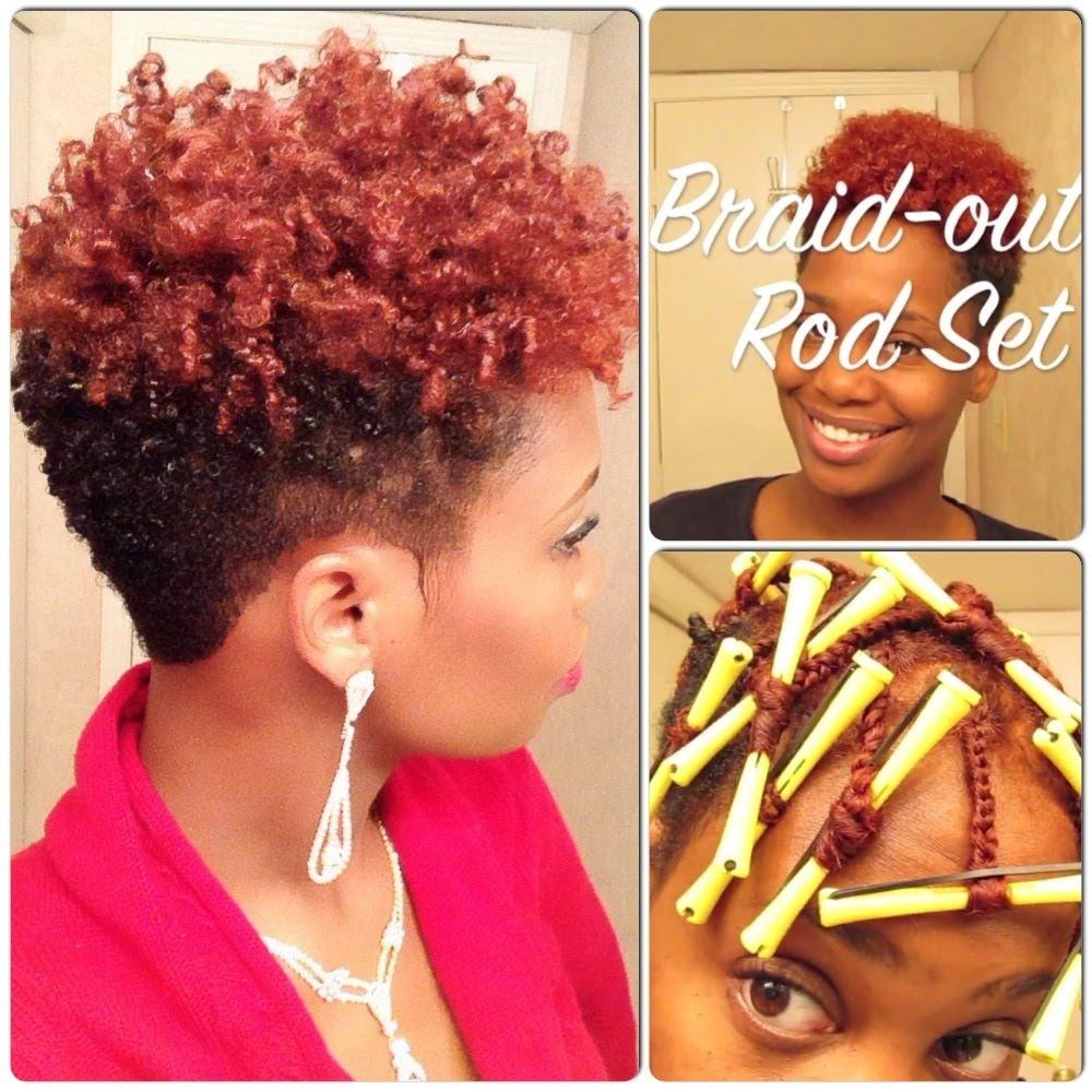 Braid Out Rod Set On Short Natural Hair Video Black Hair Information