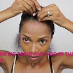 Braided faux hawk W/Bobbi Boss Kanekalon hair