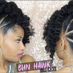 Bun Hawk Updo On Natural Hair