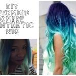 DIY Mermaid Ombre Synthetic Wig [Video]