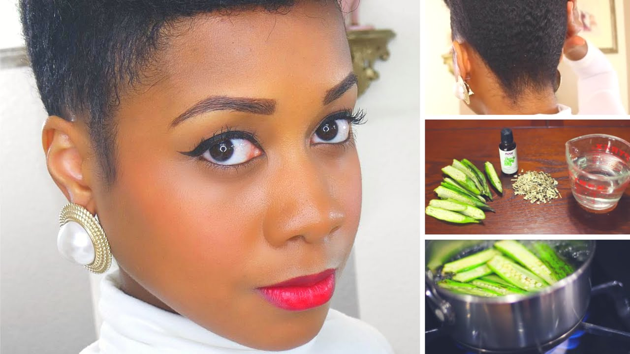 DIY Okra Hair Gel Tutorial amp; Demo [Video]  Black Hair