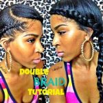 Double Side Braid Tutorial w Clip ins [Video]