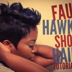 Faux Hawk Short Relaxed Hair Tutorial [Video]