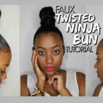 Faux Twisted Ninja Bun Tutorial [Video]