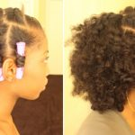 Flat Twist Out On Dry Natural Hair With Perm Rods
