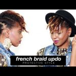 French Braids Updo on Natural Hair [Video]