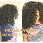 Hair tutorial: how to install knotless curly crochet braids with no leave out [Video]