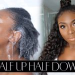 HALF UP, HALF DOWN WITH MY NATURAL HAIR AND EXTENSIONS!!! [Video]