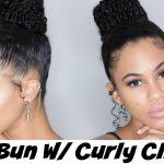 High Bun Tutorial using HerGiven Hair Curly Clip Ins [Video]