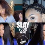 How I Achieve A Flat V/ U Part Wig: Start to Finish Application [Video]