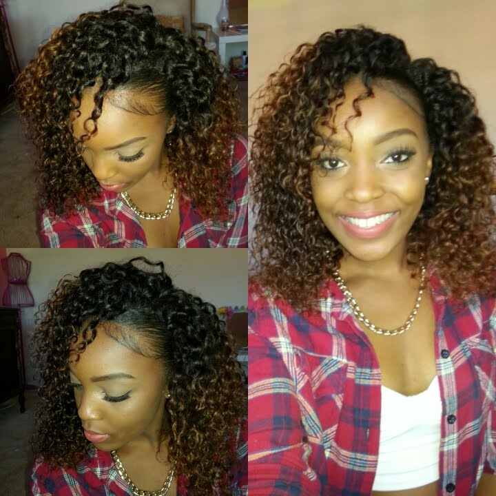 How To Blend Natural Hair With Curly Weave No Heat Video Black