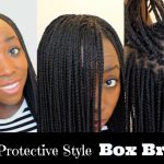How to Box Braid Your Own Hair feather Tips and Seal Box Braids Ends Protective Style [Video]