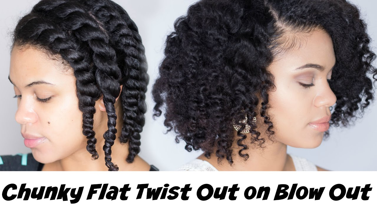 Braid Out On Blown Out Natural Hair