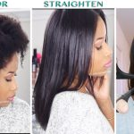 (How-To) Color, Straighten + Trim NATURAL HAIR! [Video]