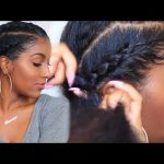 How To Cornrow Braid With Double Buns [Video]