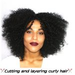How to cut and layer curly knotless crochet braids