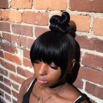 How To Do A TopKnot With Faux Bangs [Video]