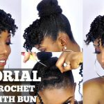How To Faux Crochet Bangs and Bun Tutorial On Short Natural Hair [Video]