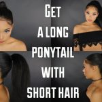 HOW TO : GET A LONG PONY TAIL WITH SHORT/MEDIUM HAIR [Video]