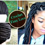 "How to Install ""Natural Looking"" Crochet Faux Locs on Braided Cap 