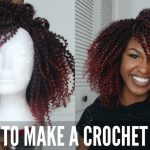 How to make a Ombre Burgundy Crochet Wig