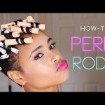 How to: Perm Rods! (TWA tapered natural hair) [Video]