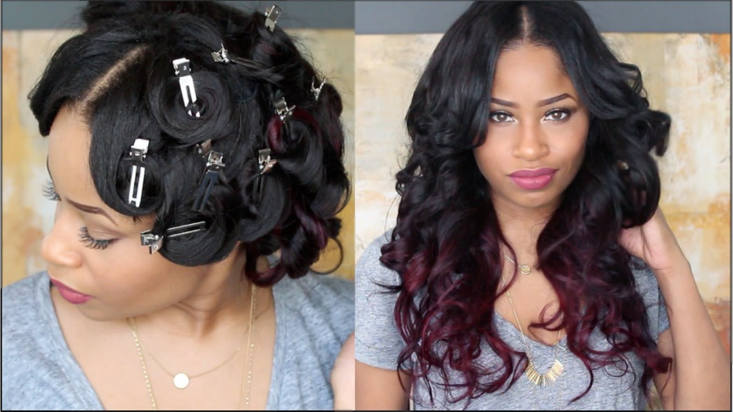 How To Pin Curl That Hair Video Black Hair Information