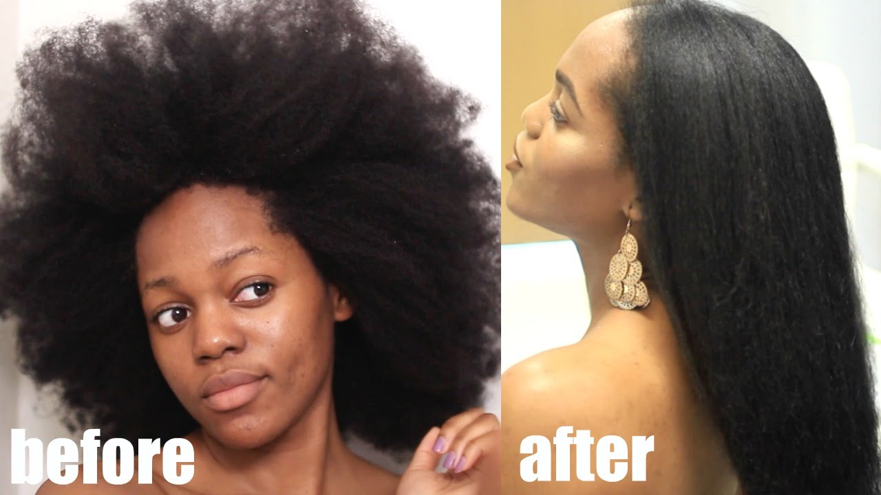 How To Safely Straighten 4c Natural Hair Start To Finish Video Black Hair Information
