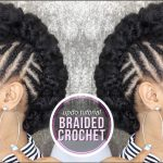 How To ➟ SIDE BRAIDED CROCHET UPDO [Video]