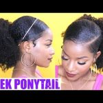 How to | Sleek Low Ponytail on Natural Hair [Video]