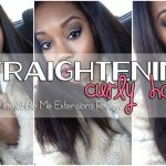 How To Straighten Long Curly Hair [Video]