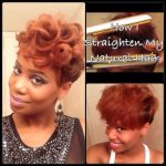 How To Straighten Short Tapered Natural Hair Tutorial